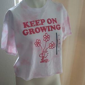 Peanuts NWT Keep on Growing Tee